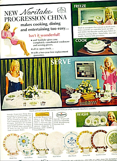 Noritake China ad 1969 (Image1)