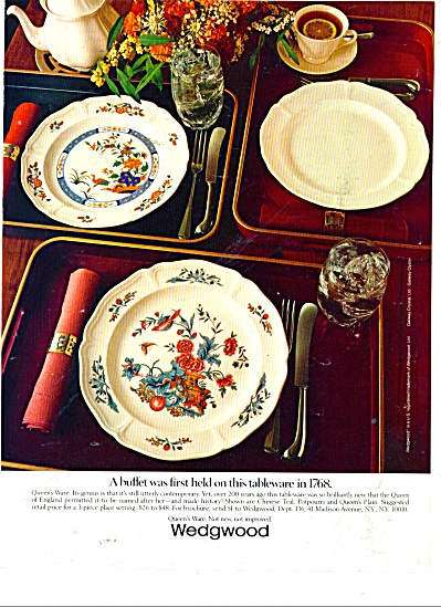 1983 Wedgwood Dinnerware AD Queens Ware (Image1)