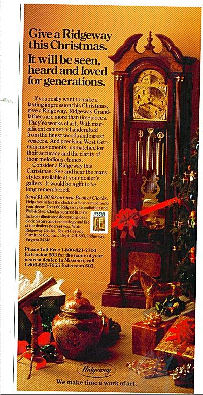 Ridgeway grandfather clocks ad 1980 (Image1)
