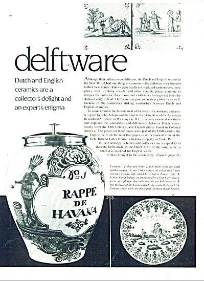 Delftware Dutch and english ceramics - 1980 (Image1)