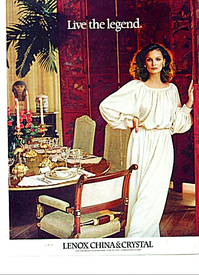 Lenox China & Crystal ad 1980 (Image1)