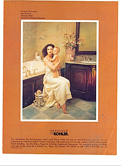 The bold look of Kohler ad 1986 #7 IN SERIES (Image1)