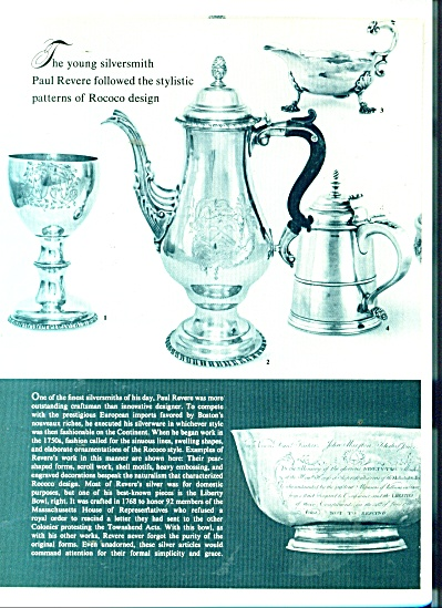 Paul Revere silversmith patterns ad 1979 (Image1)
