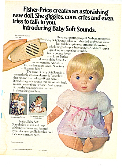 Fisher Price Baby Soft Sounds doll ad 1980 (Image1)