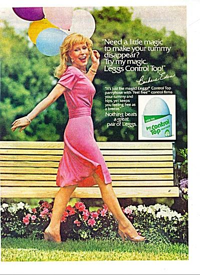 Leggs Control top pantyhose BARBARA EDEN ad (Image1)