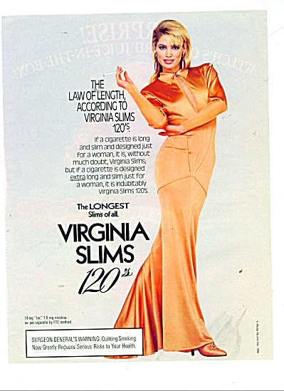 1960 VIRGINIA SLIMS Olivia d'Abo Cigarettes A (Image1)