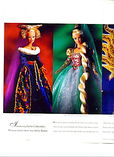 Barbie DOLL AD  collectibles - 1995 (Image1)