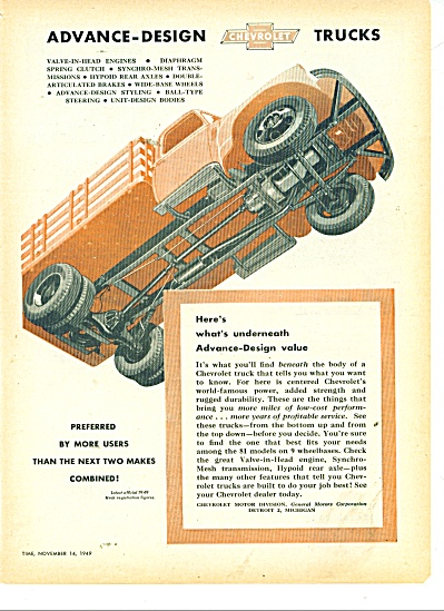 1949 Chevrolet DHEVY Truck AD Underneath (Image1)