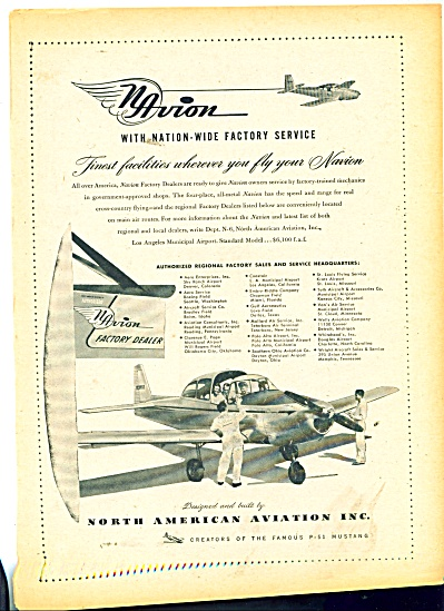 1949 North American Aviation Inc. ad NAVION (Image1)