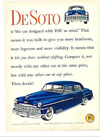 1946 Dodge DeSoto automobile Car AD (Image1)