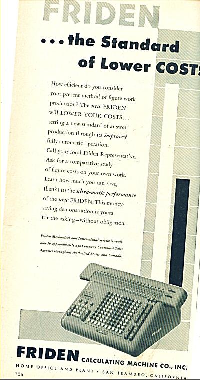 Friden calculating Machine Co., ad 1946 (Image1)
