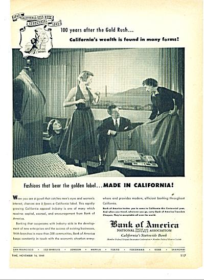 Bank of America Ad 1949 (Image1)