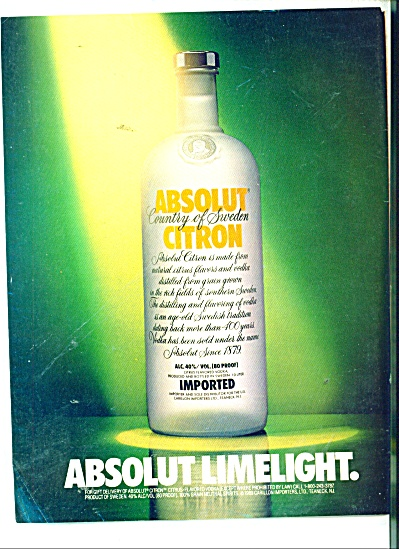 Absolut Limelight Ad
