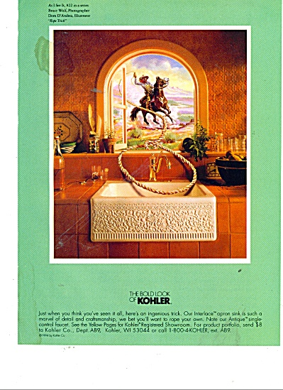 The Bold look of Kohler - Cowboy ad (Image1)