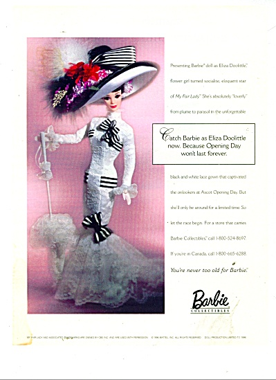 Barbie collectibles - Eliza Doolittle ad (Image1)