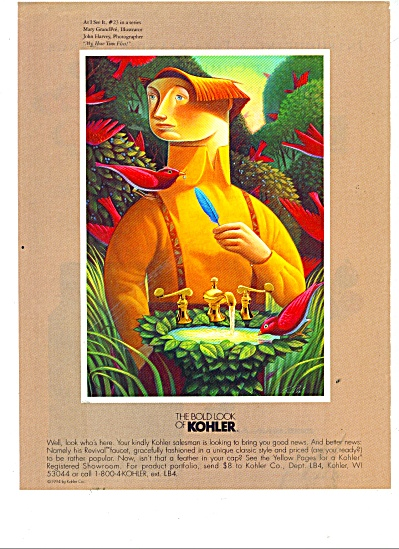 The Bold look of Kohler -Mary Grandpre ad (Image1)