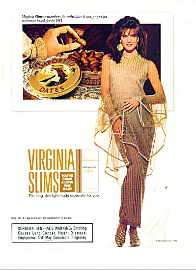 Virginia Slims cigarette ad (Image1)