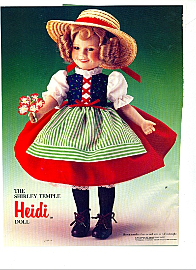 The Shirley Temple Heidi Doll AD (Image1)