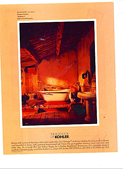 The bold look of Kohler ad 1990 #8 SERIES (Image1)