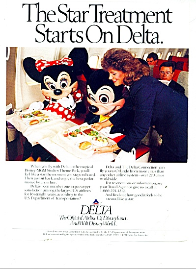 Delta Airlines Ad 1991