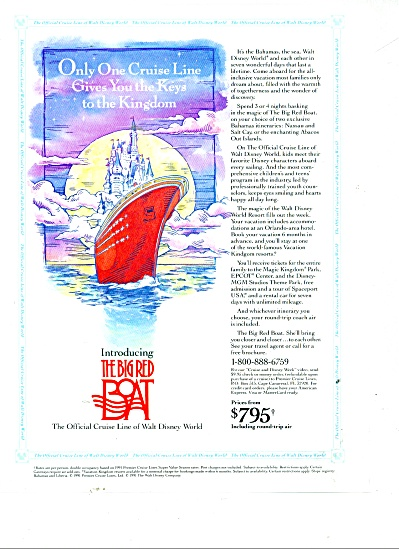 The Big Red Boat - Cruise  line of Disney wor (Image1)