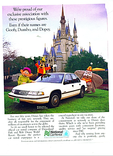 National Car Rental ad 1991 (Image1)