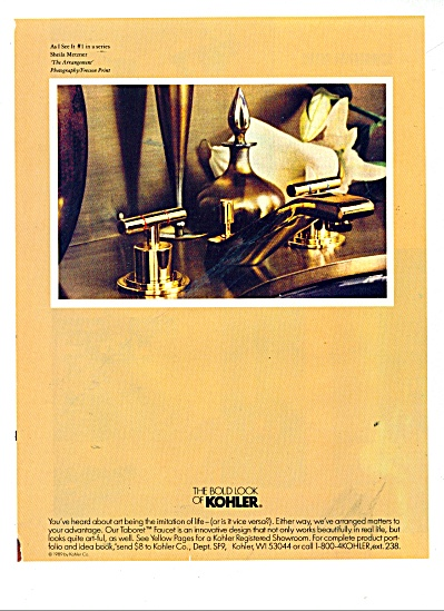 The Bold look of Kohler  ad 1991 TABORET (Image1)
