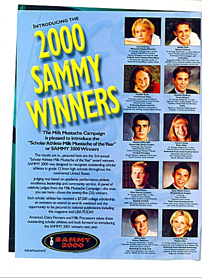 2000 Sammy Winners ads GOT MILK  (Image1)
