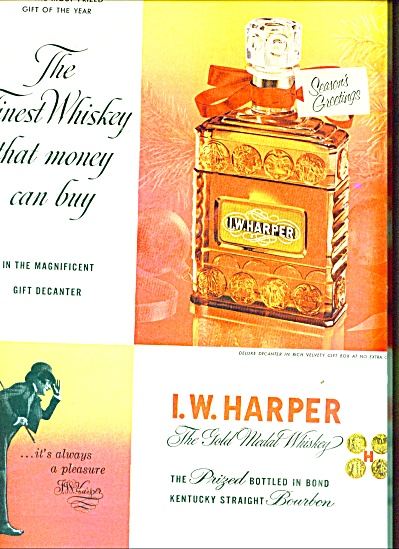 I. W. Harper gold medal whiskey  ad 1953 (Image1)