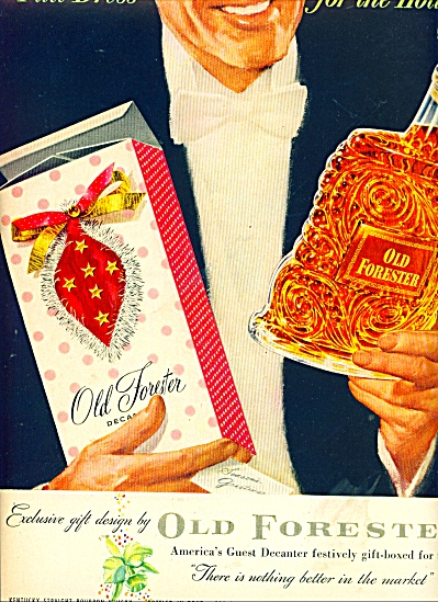 Old Forester Bourbon Whisky Ad 1953