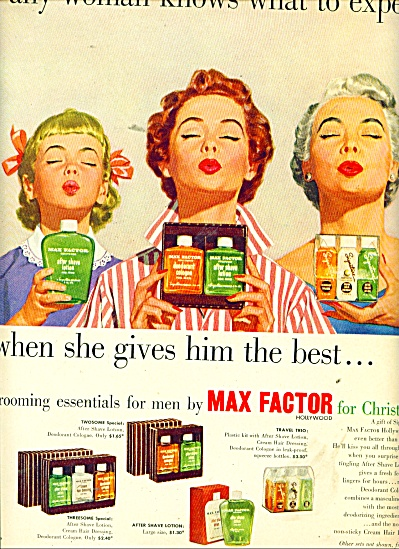 Max Factor grooming essentials for men ad (Image1)