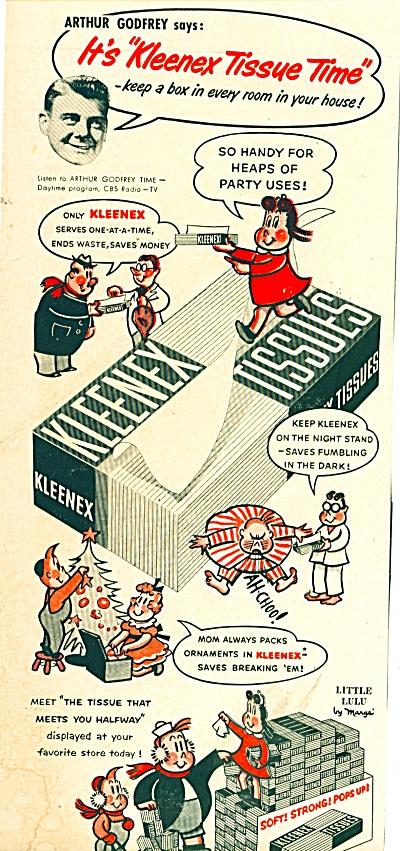 1953 Kleenex ARTHRU GODFREY Little LULU Tissu (Image1)