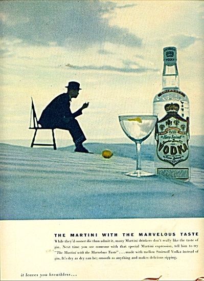 1953 Smirnoff Vodka AD MARTINI MAN (Image1)