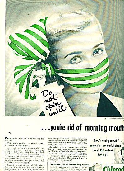 Chlorodent  toothpaste ad 1953 (Image1)