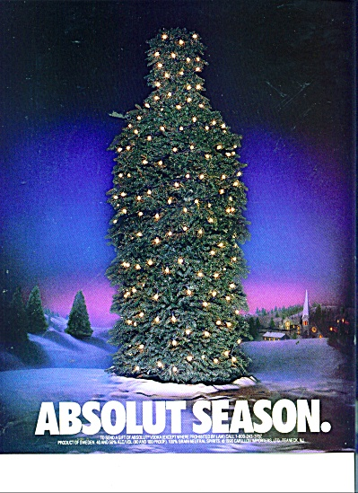 Absolut Season Ad 1990