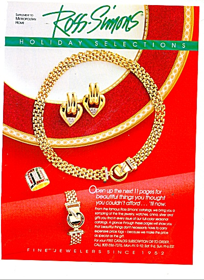 Ross-Simons Jewelers catalog sales ads1991 (Image1)
