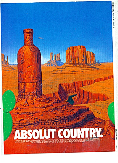 Absolut Country Ad 1992
