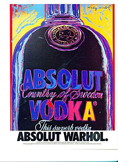 ABSOLUT WARHOL  ad  1992 (Image1)