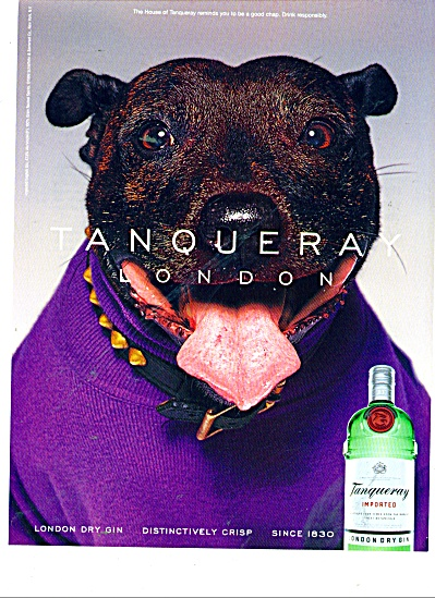 Tangueray London dry gin ad 2000 (Image1)