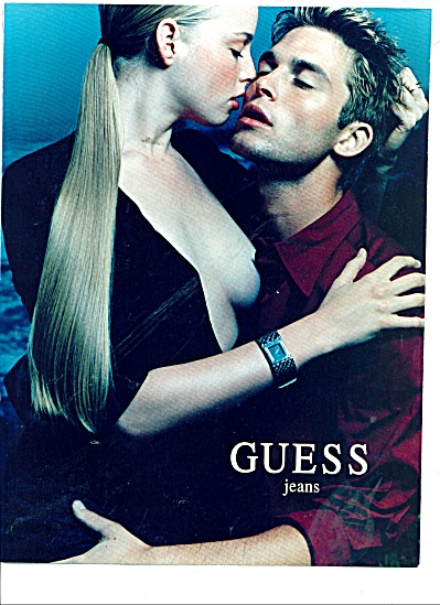 2000 Guess Jeans Ad Kissing Couple