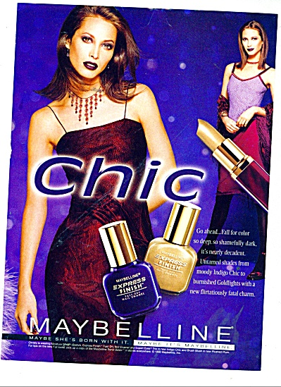 Maybelline Chic ad (Image1)