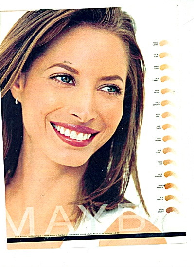 Maybelline makeup ad CHRISTY TURLINGTON (Image1)