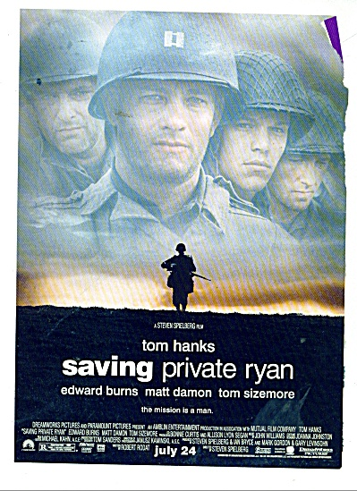 Movie AD PROMO  Saving Private Ryan - TOM HANKS (Image1)