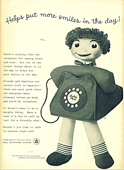 Bell Telephone System Ad 1957 Smiles In The Day