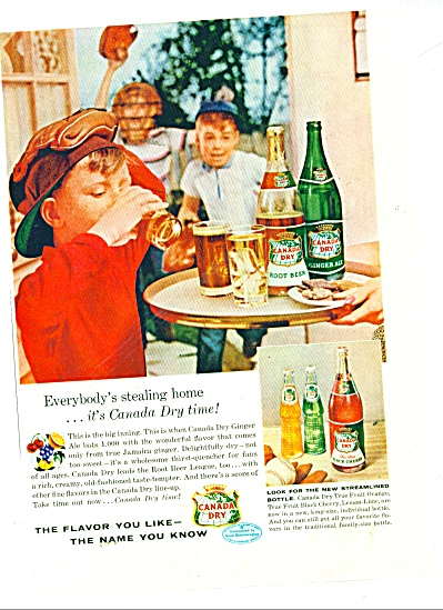 Canada Dry ginger ale and root beer ad 1956 (Image1)