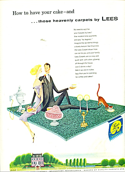 Lees Heavenly Carpets Ad 1956