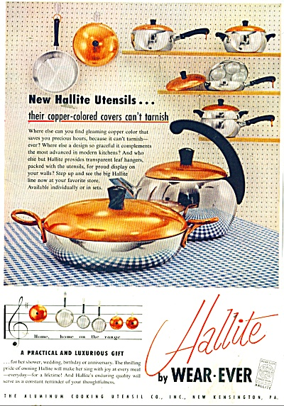 Hallite by Wear ever utensils ad 1956 (Image1)
