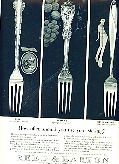 Reed & Barton silvermasters ad 1956 (Image1)