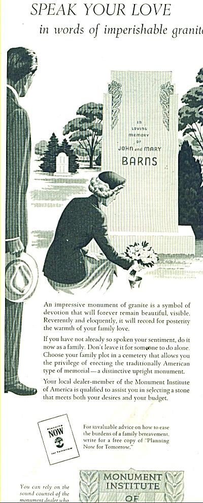 Monument Institute of America ad 1956 (Image1)