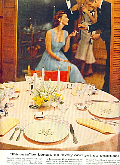 Lenox China ad 1956 (Image1)
